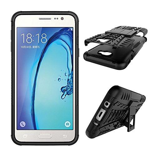 SRY Desmontable [Kickstand] 2 en 1 resistente a prueba de golpes cubierta de la caja resistente para Samsung Galaxy On5 2016 / Galaxy J5 Prime ( Color : Red ) Black
