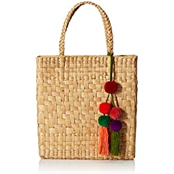 Uttara HB0077 Bolsa de Tela y de Playa, Unisex-Adulto, color Natural, Mediano