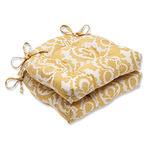 Yellow Babar Topaz Reversible Chair Pad   - Pillow Perfect
