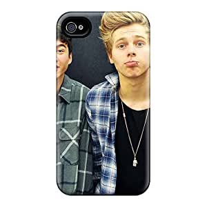 Shock-Absorbing Hard Cell-phone Cases For Iphone 4/4s (Xaw16562pRuV) Customized Nice Boys Like Girls Band Pattern