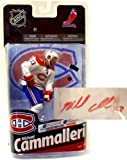 McFarlane Toys NHL Sports Picks Series 24 Action Figure Mike Cammalleri (Montreal Canadiens) White Jersey with Signature Collector Level Premier