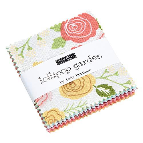 Garden Charm Pack - Lollipop Garden Mini Charm Pack by Lella Boutique; 42-2.5 Inch Precut Fabric Quilt Squares