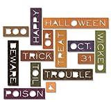 Sizzix 661587 Thinlits Die Set, Halloween Words, Thin by Tim Holtz (14-Pack),,
