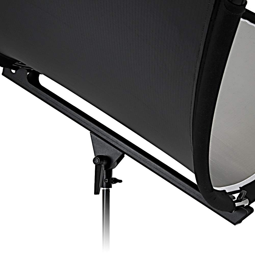 Fotodiox Crescent Moon Reflector - Curved Beauty Catch Light Reflector for Portraits and Head Shots Includes 6 Foot Stand by Fotodiox (Image #6)