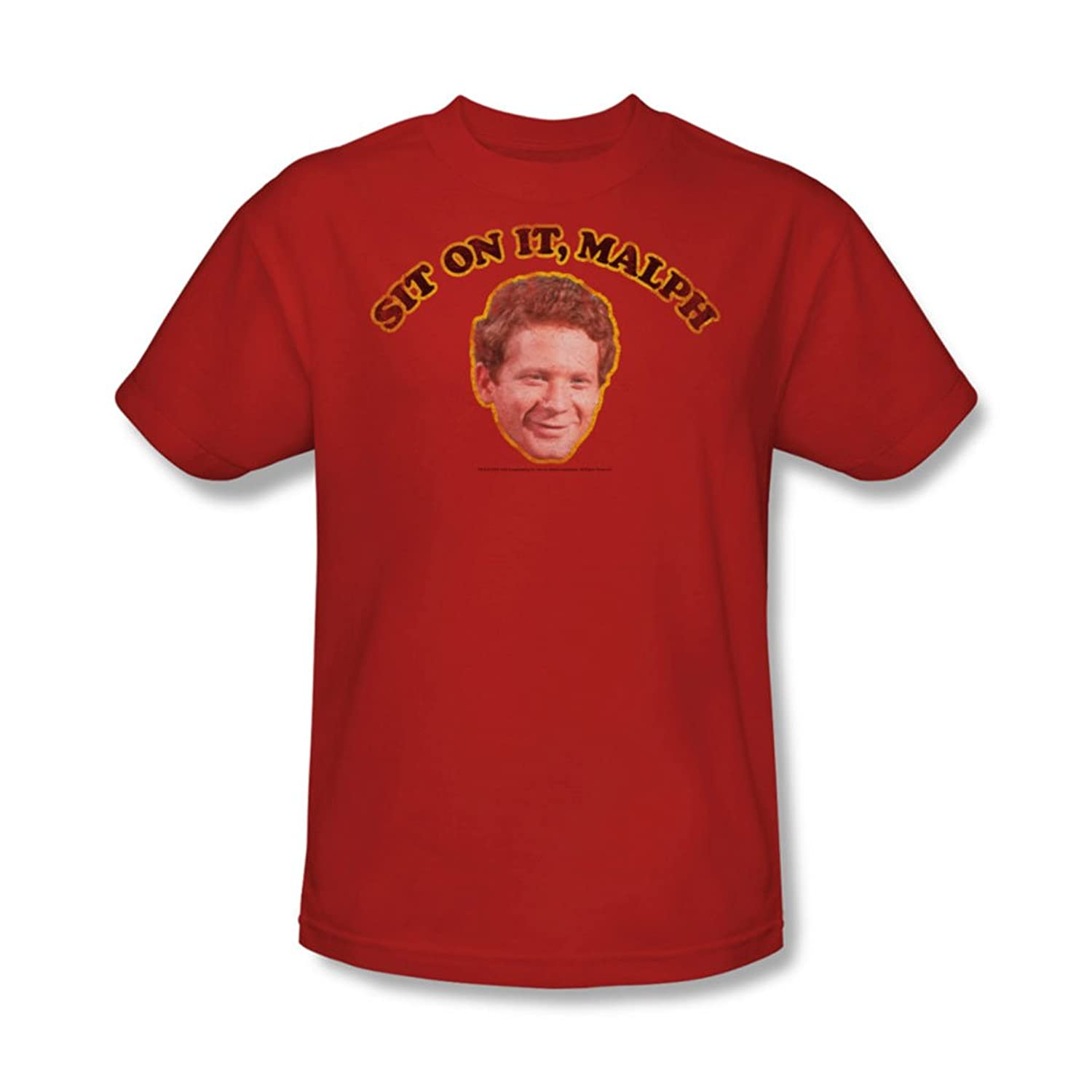 Cbs - Happy Days / Sit On It, Malph Adult T-Shirt In Red