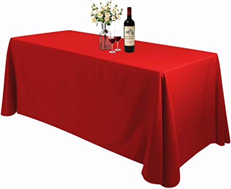 Cotton Rectangular Tablecloth Rectangular Table 140x180 cm Lavaredo Red