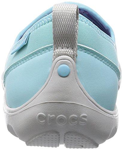 Donna Blu Crocs pearl Busy Blue Duet ice Stivali White Day Skimme wqAXqUB
