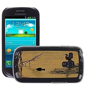 GoGoMobile Slim Protector Hard Shell Cover Case // M00125210 Alligator Bird Egret Wildlife // Samsung Galaxy S3 MINI i8190
