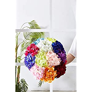 Kislohum Artificial Hydrangea Flowers Heads 10 Teal Hydrangea Silk Flowers Head for Wedding Centerpieces Bouquets DIY Floral Decor Home Decoration with Long Stems 5
