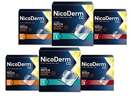 Nicoderm CQ Combo Kit Step 1, Step 2 & Step 3 (14 Clear Patches in each Step). Pack of 6 Total. by NicoDerm CQ (Image #1)