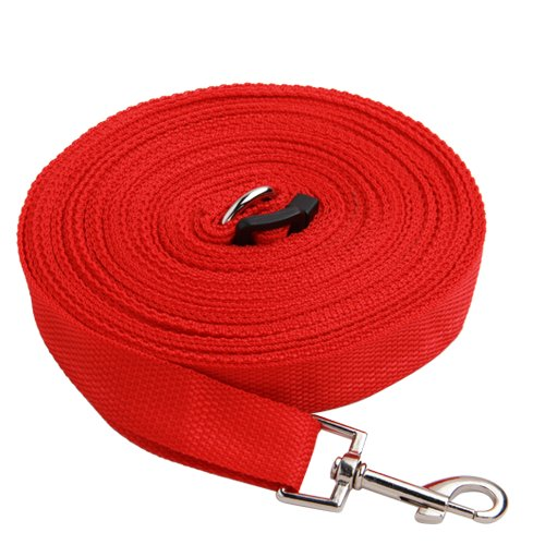 Red 50ft/15m Long Dog Pet Puppy Training Obedience Lead Leash