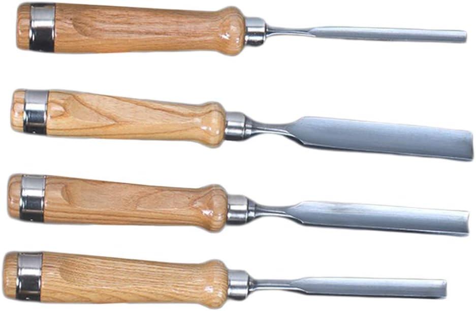 joyMerit 4X Herramientas De Cincel Manual De Talla De Madera Gubias De Carpinter/ía Profesional Fabricaci/ón De Acero