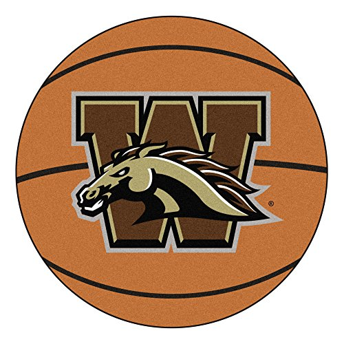 NCAA Western Michigan University Broncos Basketball Shaped Mat Area Rug - Michigan University Basketball Rug