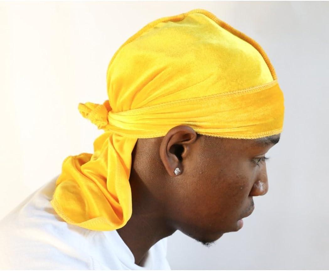 Slippery Apparel 360 Waves Extra Long Straps for Men Will Last for Years Velvet Premium Durag 20+ Colors