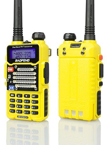 XINKSD Radio US Yellow BF-F9 V2+ 5Watt Tri-Power (1/4/5w) Dual-Band 145-155/400-520 MHz FM Ham Two-Way Radio Transceiver (BFF9V2YELLOW)