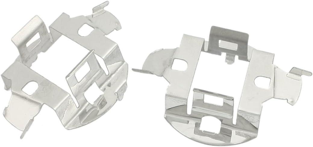 Lampadina Faro LED Kit di Conversione Supporto Fermacavo Adattatore Argento