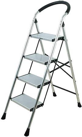WSWJJXB Escalera mecánica de Aluminio con reposabrazos 4 Pasos, Escalera Plegable Plegable Ligera para Adultos, Carga 1 50 kg: Amazon.es: Hogar