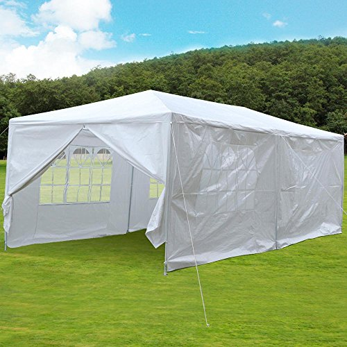 Yaheetech 10ft X 20ft Party Wedding Tent Patio Garden Outdoor Gazebo Canopy with 4 Sidewalls & 2 Doors -  YT-00061335