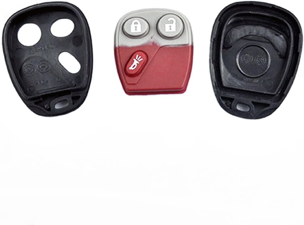 GM 15186201 CANADA:109G 12021 FCC//ID LHJ011 LHJ011 For GM GMC Chevy 3 Buttons Remote Case