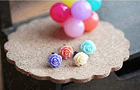 Purple ZOEAST Crystal Pearl Pink Blue White Purple Rose Flower Dust Plug 3.5mm Phone Headphone Jack Earphone Cap Ear Cap Dust Plug Charm iPhone 4 4S 5 5S 6 6S Plus HTC Samsung iPad iPod etc