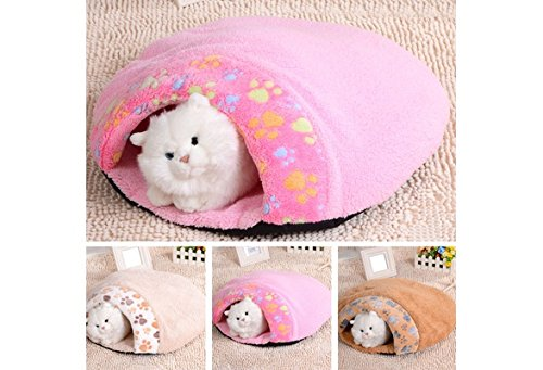 Camel M Camel M Super Soft Pet Sleeping Bag Cute Warm Comfortable Dogs Cats Bed House (color  Camel,Size  M)