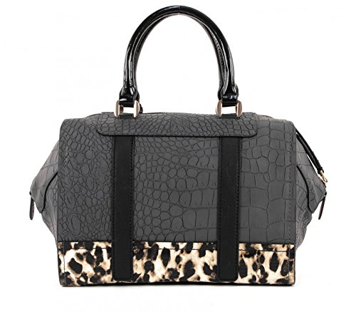 Guess Borsa Bauletto, HWCG4925060, JIZELLE BOX SATCHEL BAG Black (Nero)