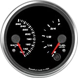 Speedhut GR40-D-WT01FL01 Dual Gauge - Water Temp, Fuel Level, 4''