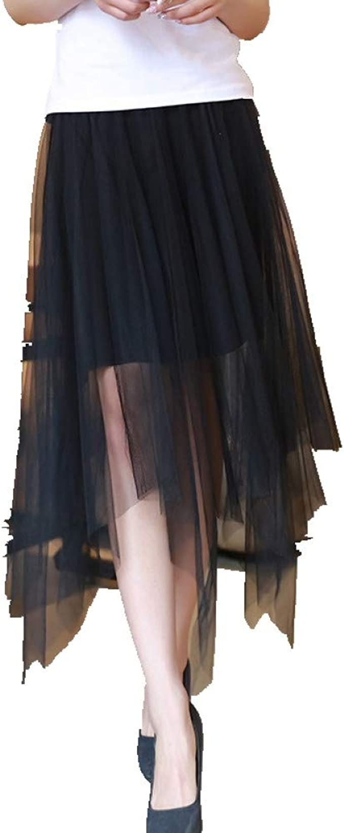 GYYWAN Moda Falda De Cintura Alta Falda Irregular para Mujer ...