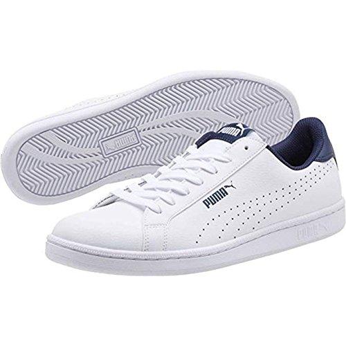 (PUMA Men's Smash Perf Sneaker, White Peacoat, 11 M US)