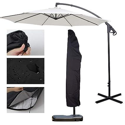 265cm Parasol Banana Umbrella Patio Heavy Duty Cover Cantilever Weatherproof NEW