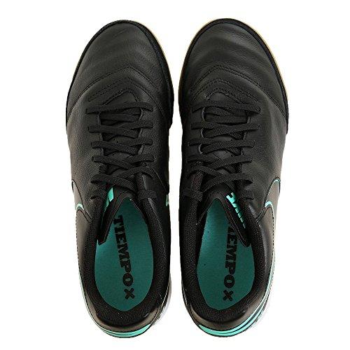 Nike Heren Tiempo Genio Ii Leer Ic Voetbalschoen Electro Paars / Volt-zwart