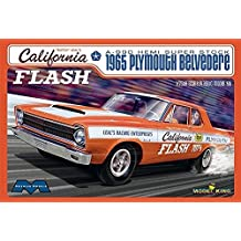 """Moebius 1222 """"Butch"""" Leal's California Flash A-990 HEMI Super Stock 1965 Plymouth Belvedere 1:25 Scale Plastic Model Kit - Requires Assembly"""