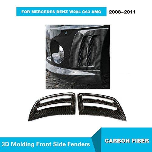 MCARCAR KIT For 2008 2009 2010 2011 Mercedes Benz W204 C63 AMG Factory CNC Moulding Real Carbon Fiber Top Fit Front Bumper Fins Side Air Fender Vents