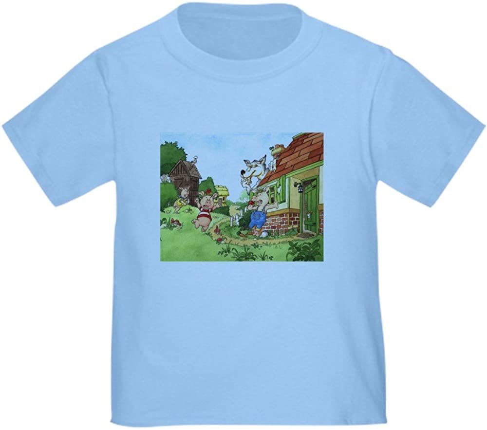 The Pigs and The Wolf CafePress Cute Toddler T-Shirt 100/% Cotton