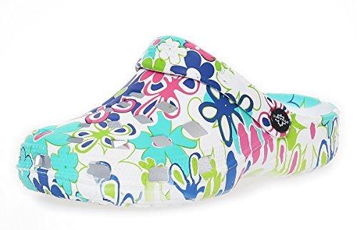 de Zapatos Zapatos sauna CL Sandalias del de Mujer turquesa Zuecos 263 jardín Zapatillas playa qFPE5