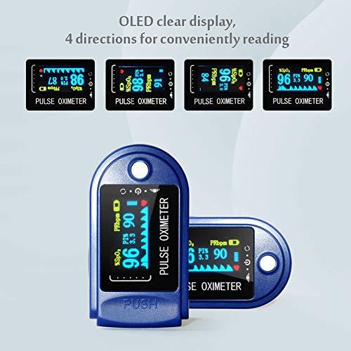 Goeco Pulsossimetro da Dito, Saturimetro Dito Portatile, con Allarme SPO2 Display OLED Ossimetro di Sangue per Domestico, Fitness e Sport estrem