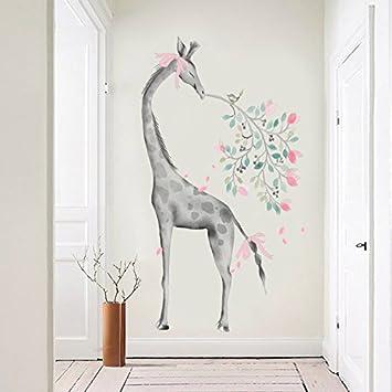 ALLDOLWEGE Jirafas arte de pared autoadhesivas salón sofá galería ...