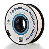 3D Solutech Real White 3D Printer PLA Filament 1.75MM Filament, Dimensional Accuracy +/- 0.03 mm, 2.2 LBS (1.0KG) - PLA175RWHT