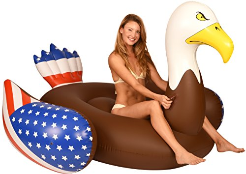 (Coconut Float Pool Floats; Bald Eagle Pool Raft, 6.5 Ft)