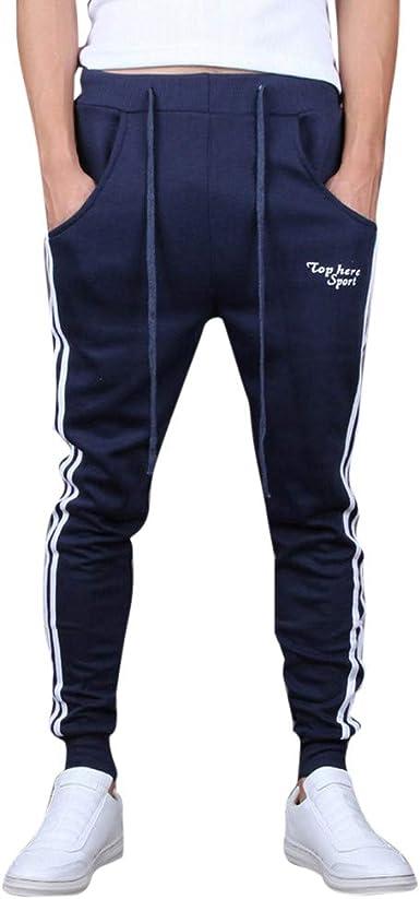 Uomo Casual Corsa Slim Fit Training Jogging Pantaloni Della Tuta