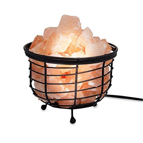 (Zennery Crafted Himalayan Salt Lamps (Zennery Himalayan Salt Wrought Iron Kettle Shaped))