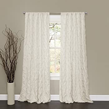 Lush Decor Lake Como Window Curtain Panel 50W X 84L Ivory