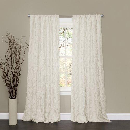 Lush Decor Lake Como Window Curtain Panel, 50W x 84L, Ivory ()