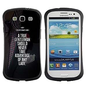 Paccase / Suave TPU GEL Caso Carcasa de Protección Funda para - gentleman advantage motivational - Samsung Galaxy S3 I9300