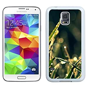 Bokeh Green Grass Drops (2) Hard Plastic Samsung Galaxy S5 I9600 Protective Phone Case