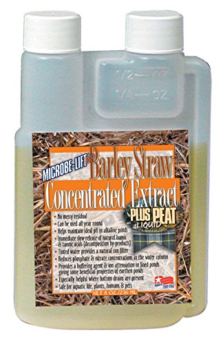 (Microbe Lift 8-Ounce Pond Barley Straw Concentrate Plus Peat Extract Concentrate BSE)