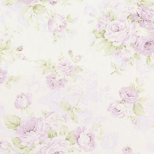 Carousel Designs Lavender Floral Fabric By The Yard