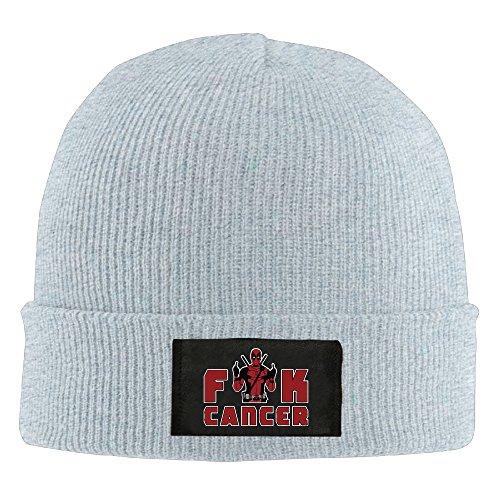 Runningway Cool Fuck Cancer Knit Winter Beanie Hat Skull Cap Unisex Ash