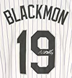 Charlie Blackmon Colorado Rockies Autographed White Pinstripe #19 Jersey