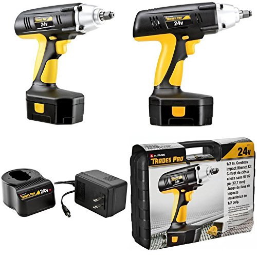 24V Cordless Tool Impact Wrench Nuts Bolts 1/2 Drive Battery Charger Tax Free ✅ by GOOD MEDIA